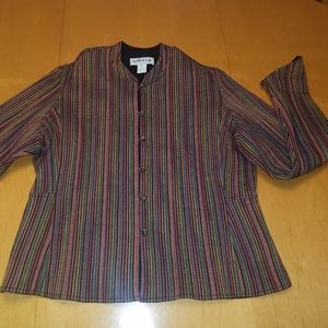 Orvis quilted cotton jacket.  Multi colors.Size XL